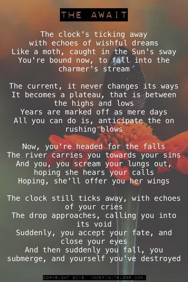 The Await - Poem - Copyright indefiniteloop.com