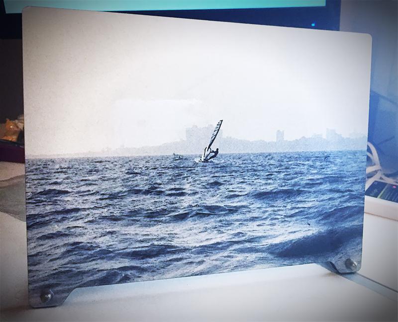 Silver Surfer by Indefiniteloop.com - Print on wood