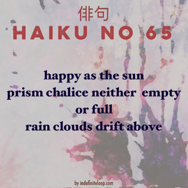 Haiku No. 65 - Prism Chalice.