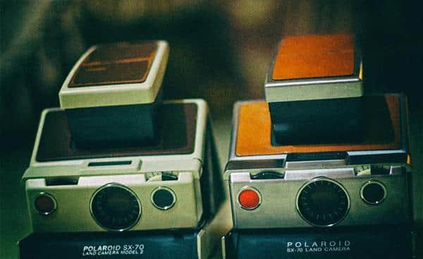 Twin Polaroid SX-70s