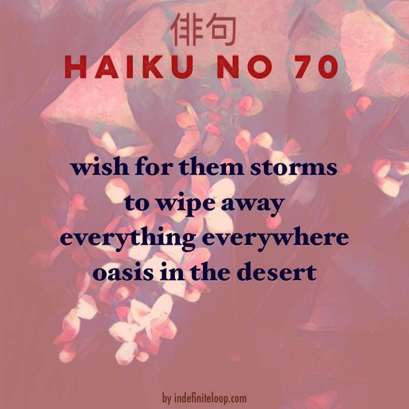 Haiku No. 70 - Stormy Wish.