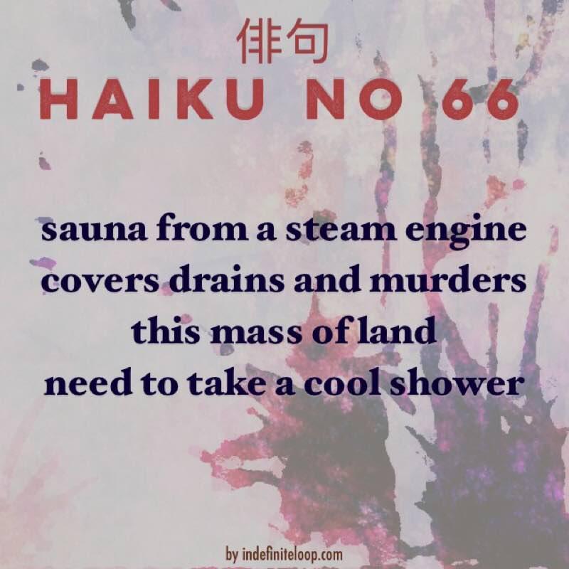 Haiku No. 66 - Cool Shower.