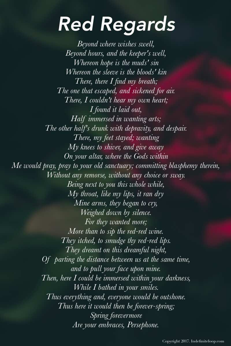 Red Regards - Poem - Copyright indefiniteloop.com