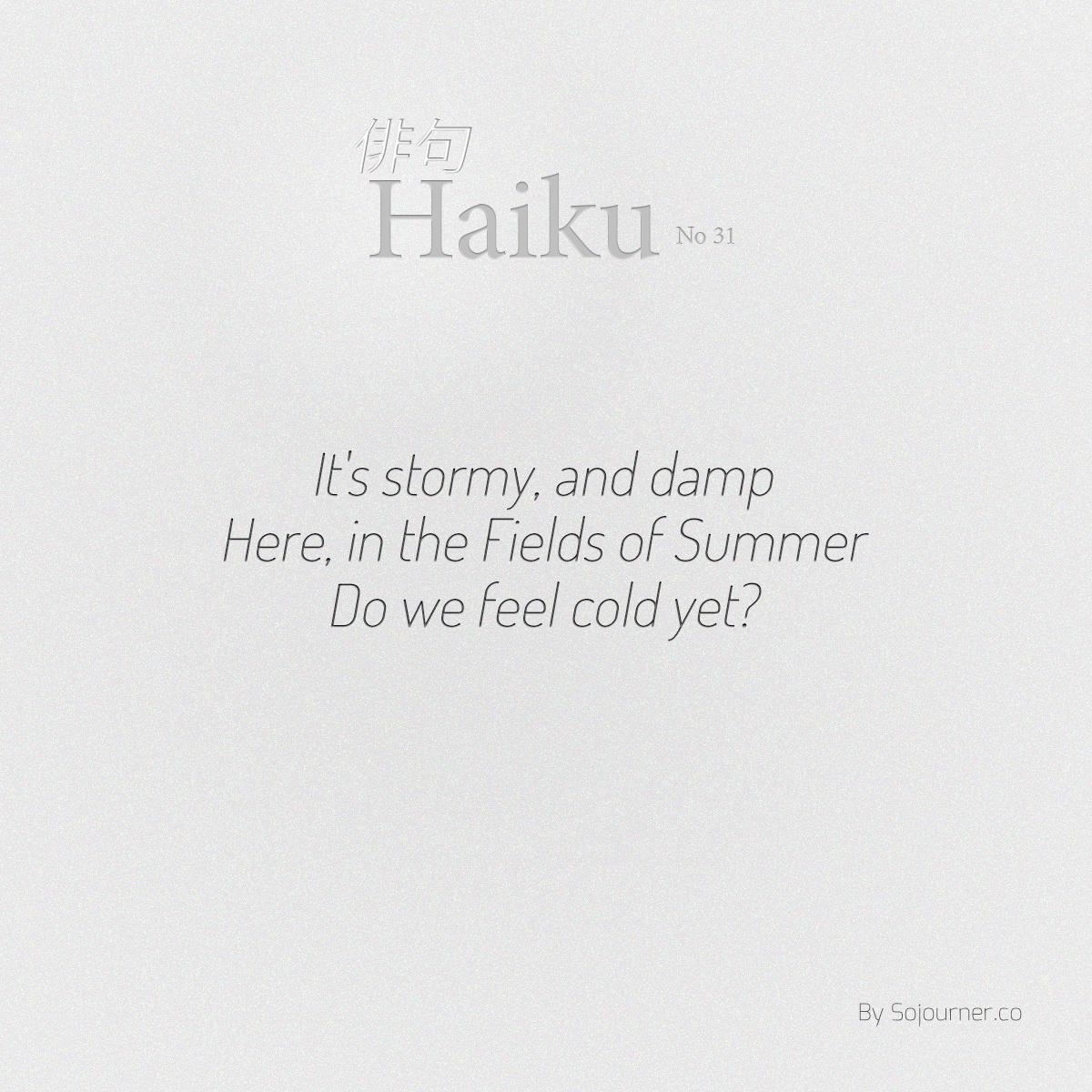 indefiniteloop.com - Haiku No. 31 - Feeling Cold.