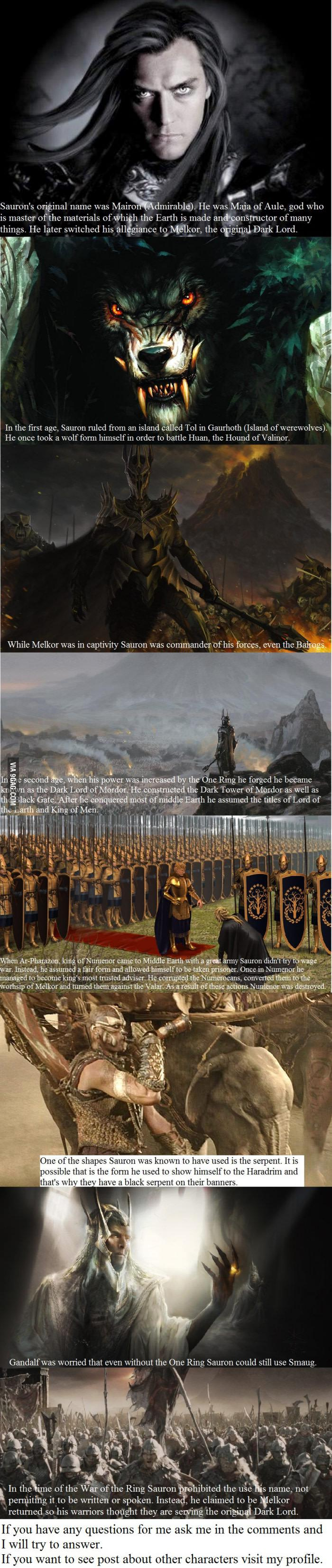 8 Sauron Facts You May Not Have Known