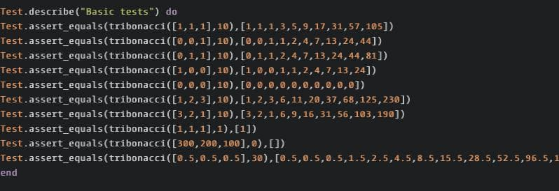 Ruby Kata: Function To Generate A Tribonnaci Sequence Until n.