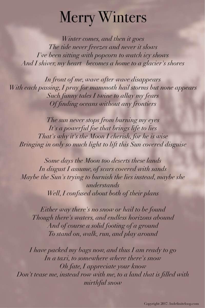 Merry Winters - Poem - Copyright indefiniteloop.com