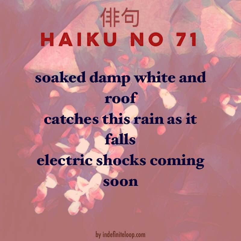 Haiku No. 71 - Electrical Shocks.