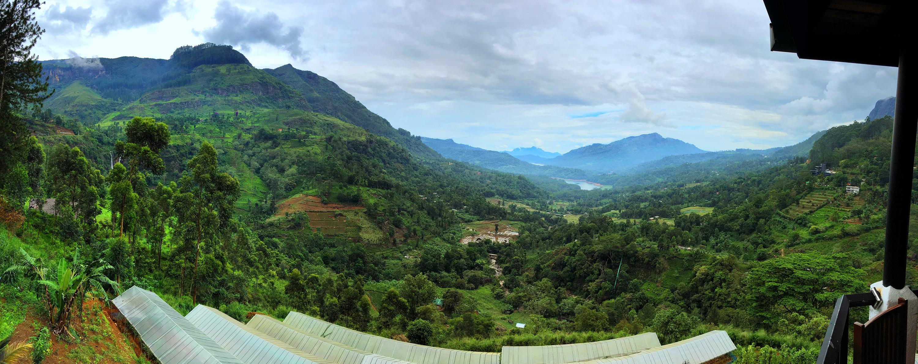 On The Way To Nuwara Eliya -  Panorama From A Cafe & Lodge On The Road, In The Middle Of Nowhere.