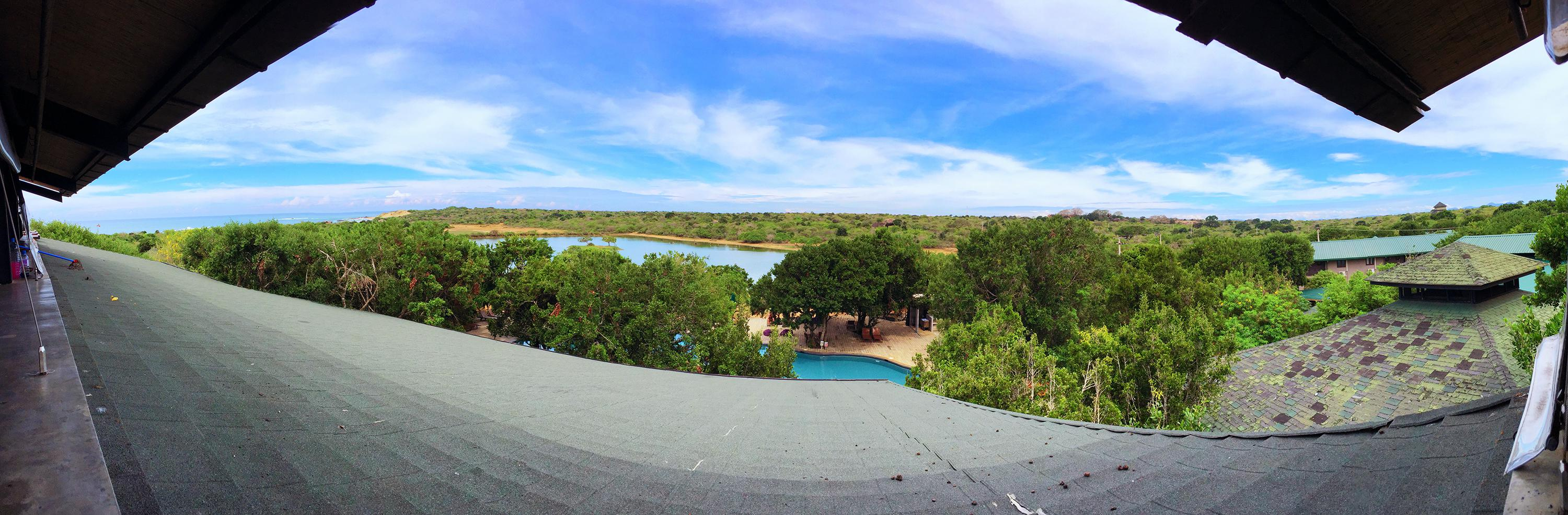 Panorama from The Observation Deck & Bar at The Cinnamon Wild.