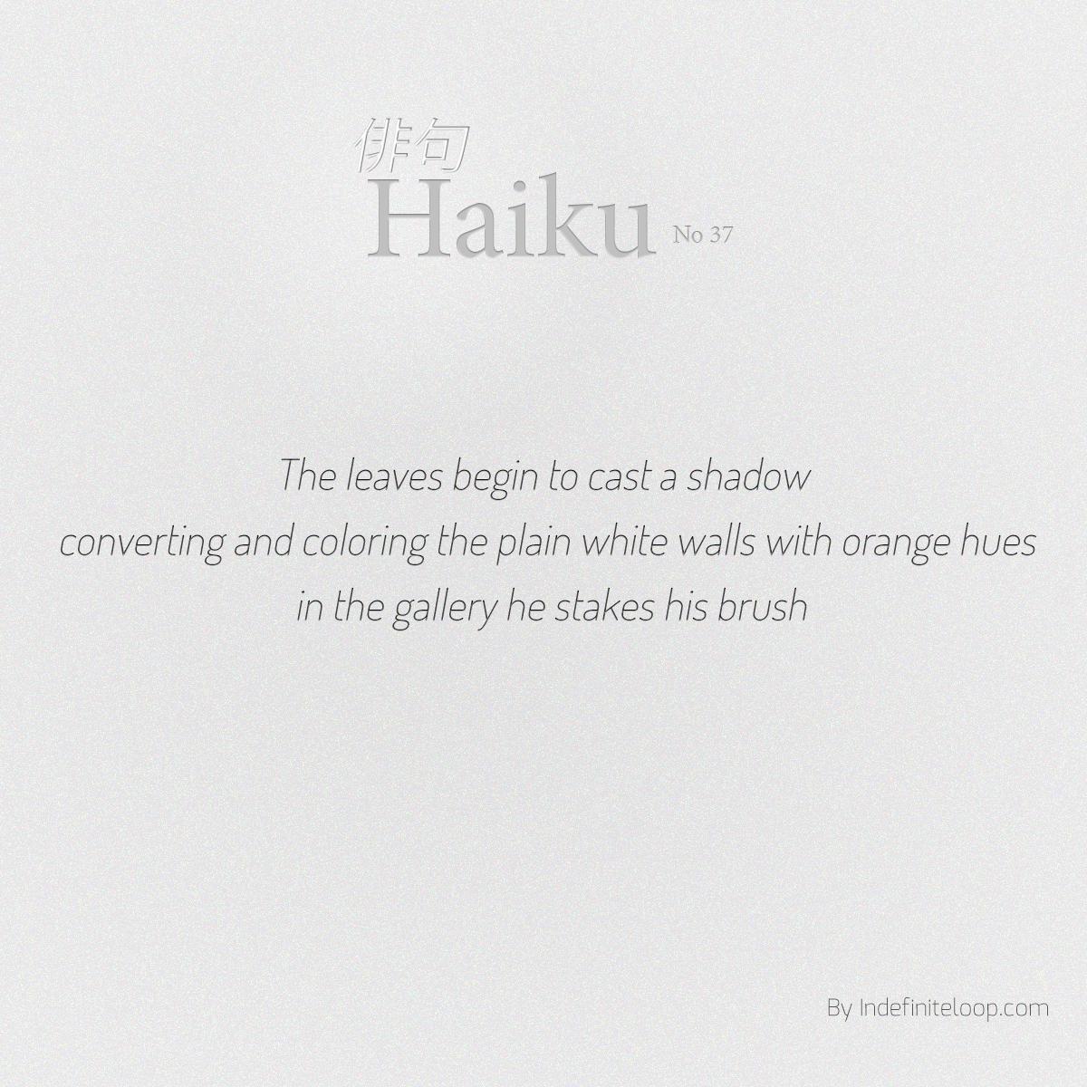 indefiniteloop.com - Haiku No. 37- Risk Your Art.
