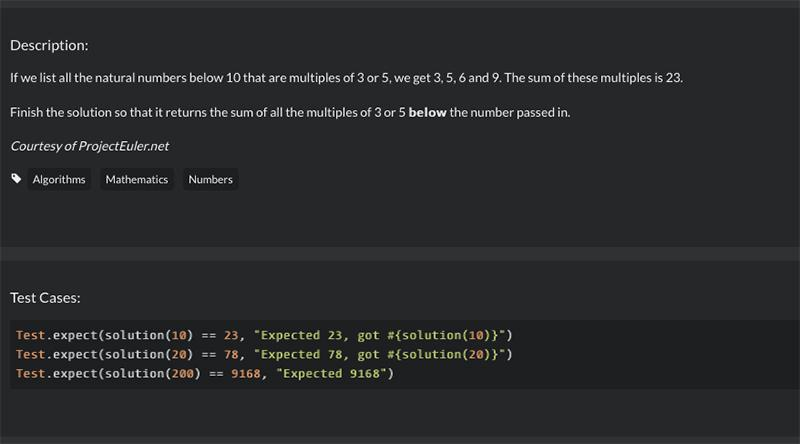 Ruby Kata: Add all natural numbers below n, that are multiples of 3 and 5