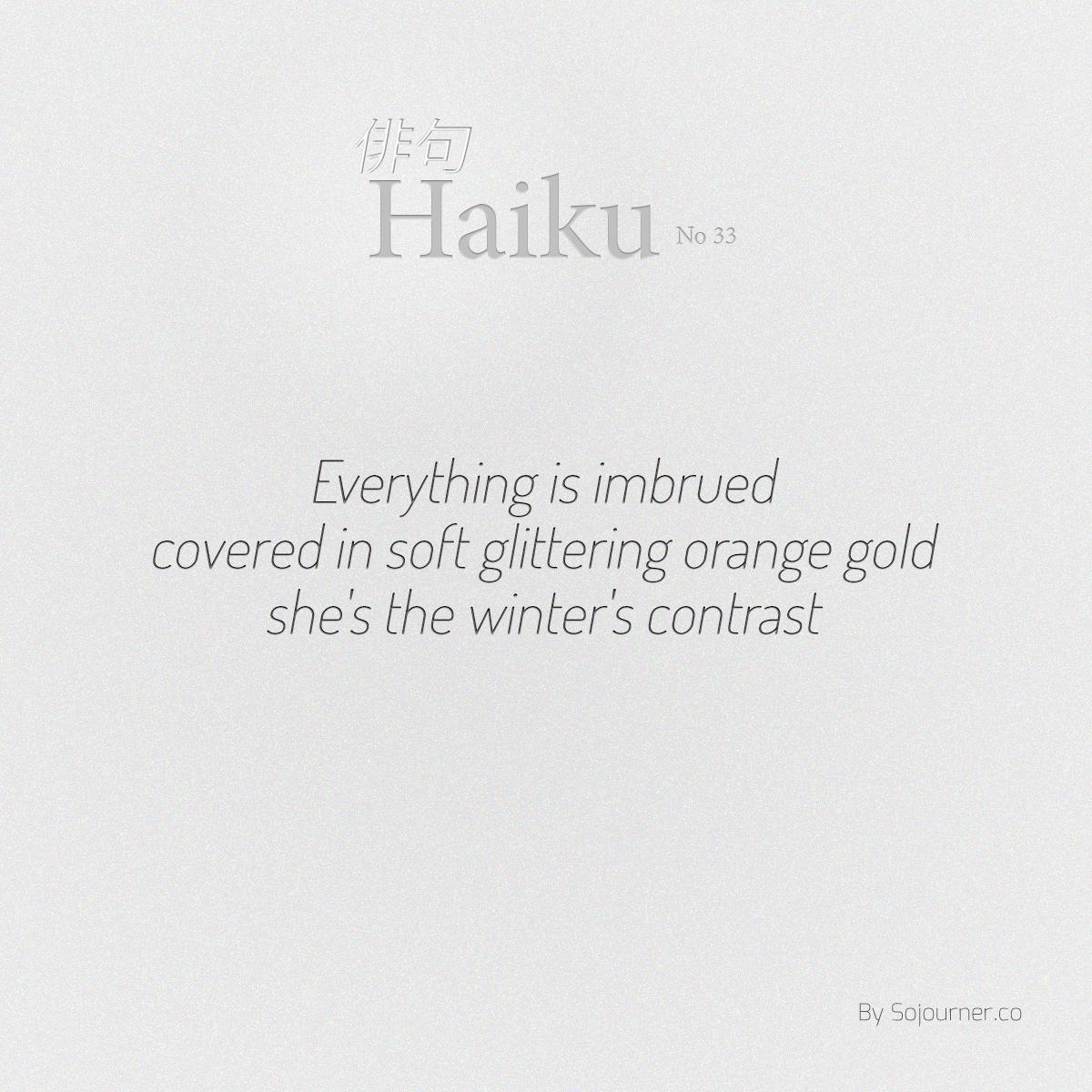 indefiniteloop.com - Haiku No. 33 - Winter's Contrast.