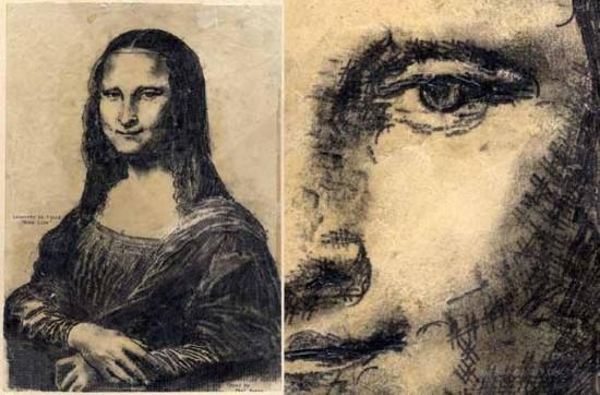 Paul Smith - Typewriter art - Mona Lisa
