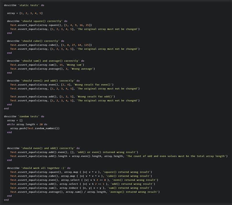 Extending The Built-In Ruby Classes - Kata
