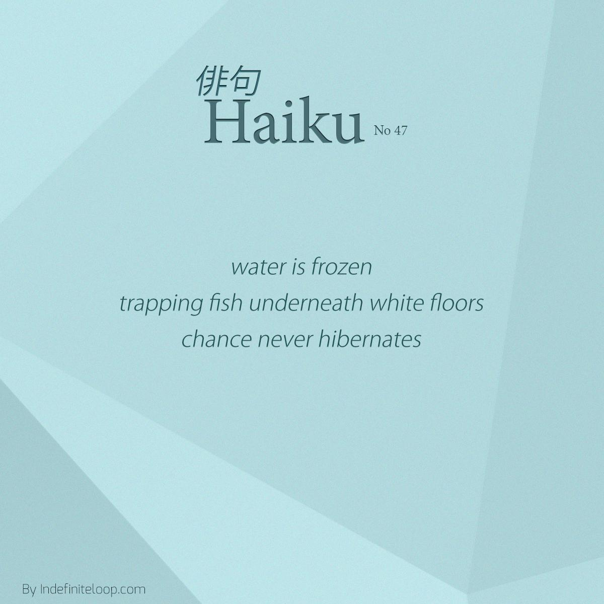 indefiniteloop.com -Haiku No. 47 - No Hibernation.